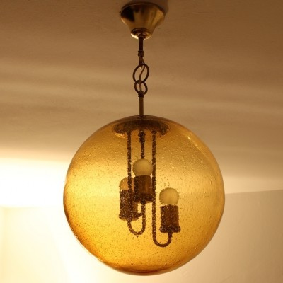 Globe hanging lamp from the sixties by unknown designer for Doria Leuchten