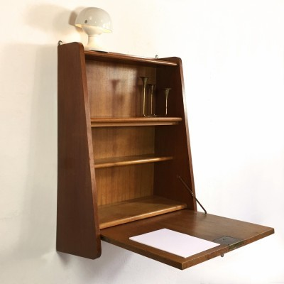 Secrétaire wall unit from the fifties by unknown designer for unknown producer