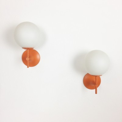 Set of 2 hanging lamps from the sixties by Max Bill for Temde Leuchten