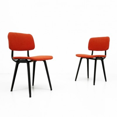 Set of 2 Revolt dinner chairs from the fifties by Friso Kramer for Ahrend de Cirkel
