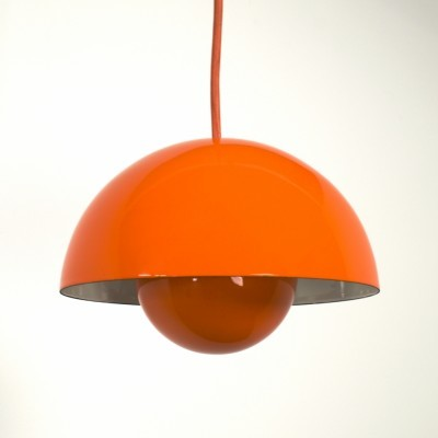 Flowerpot hanging lamp from the sixties by Verner Panton for Louis Poulsen