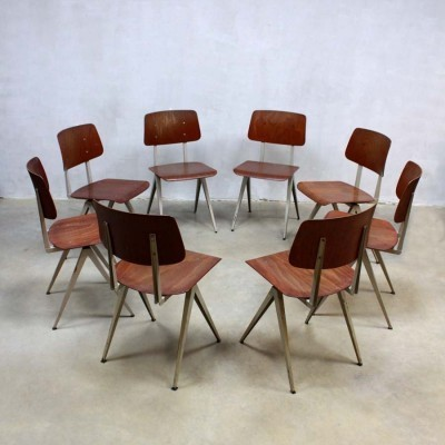 30 S16 dinner chairs from the sixties by unknown designer for Galvanitas