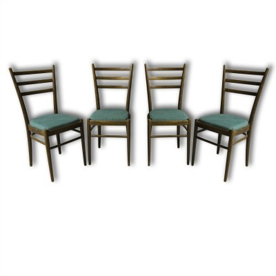 Set of 4 dinner chairs from the sixties by unknown designer for Ton Czechoslovakia