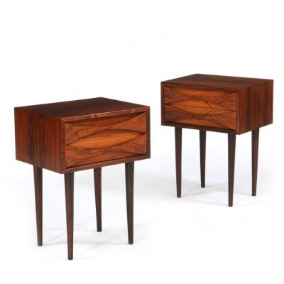 Set of 2 Night Tables side tables from the fifties by Arne Vodder for Sibast