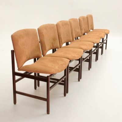 Set of 6 dinner chairs from the seventies by unknown designer for unknown producer