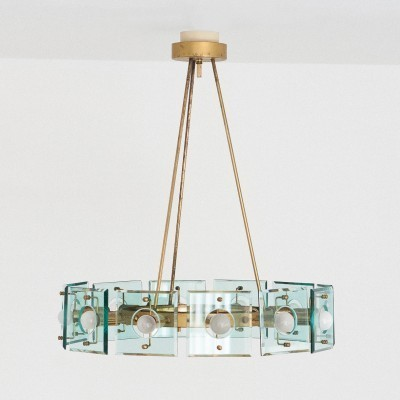 Hanging lamp from the sixties by unknown designer for Crystal Arte