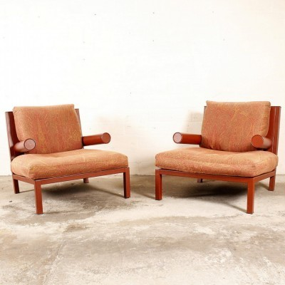 2 Baisity lounge chairs from the eighties by Antonio Citterio for B & B Italia