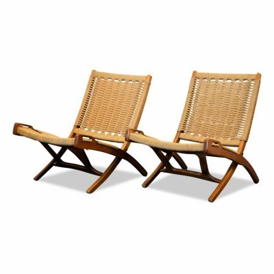 Set of 2 lounge chairs from the fifties by Ebert Wels for unknown producer
