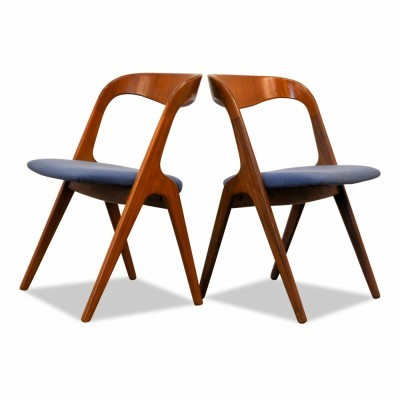 Set of 2 dinner chairs from the sixties by unknown designer for Vamo Sonderborg