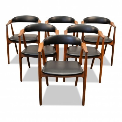 Set of 6 arm chairs from the sixties by unknown designer for Farstrup