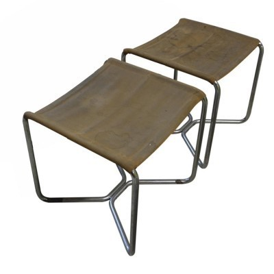 Set of 2 B-8 stools from the thirties by Marcel Breuer for unknown producer