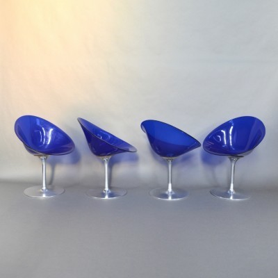 Set of 4 ERO|S| dinner chairs from the seventies by Philippe Starck for Kartell