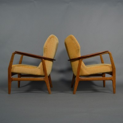 Set of 2 Wing arm chairs from the fifties by Aksel Bender Madsen for Bovenkamp