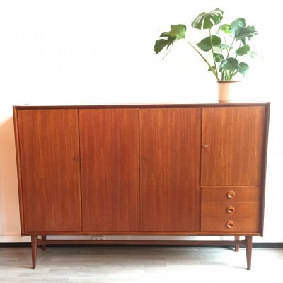 Highboard cabinet from the sixties by unknown designer for Bartels Werken GmbH