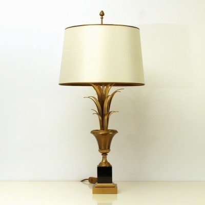 Pineapple Leaves desk lamp from the sixties by unknown designer for Maison Jansen