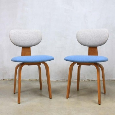 2 dinner chairs from the fifties by Cees Braakman for Pastoe