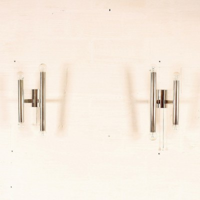 2 wall lamps from the sixties by unknown designer for Sciolari