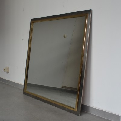 Mirror from the seventies by unknown designer for Belgo Chrom