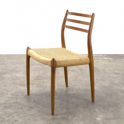 Set of 4 No 78 dinner chairs from the sixties by Niels O. Møller for J L Møller