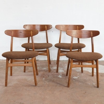 Set of 4 CH30 dinner chairs from the fifties by Hans Wegner for Carl Hansen & Son