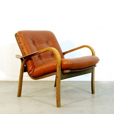 3 Ekstrom arm chairs from the seventies by Yngve Ekström for Swedese