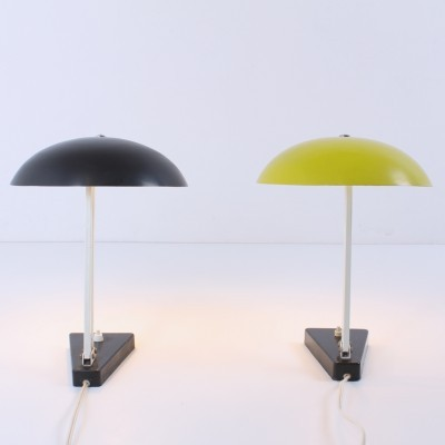2 x Model 145 desk lamp by H. Busquet for Hala Zeist, 1950s