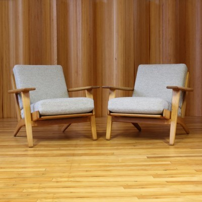 Set of 2 GE-290 arm chairs from the fifties by Hans Wegner for Getama