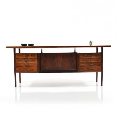 FM Large writing desk from the sixties by Kai Kristiansen for Feldballes Møbelfabrik