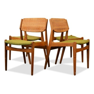 Set of 4 dinner chairs from the fifties by Erik Buck for unknown producer