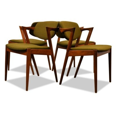 Set of 4 dinner chairs from the sixties by Kai Kristiansen for Schou Andersen SVA Møbler