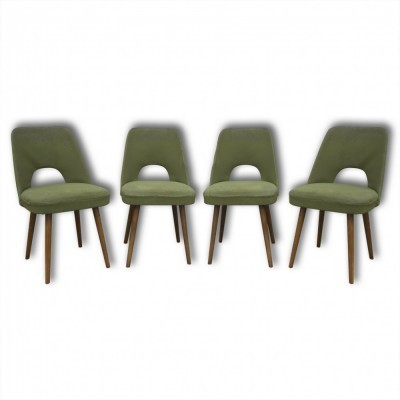 Set of 4 dinner chairs from the sixties by Oswald Haerdtl for Ton Czechoslovakia