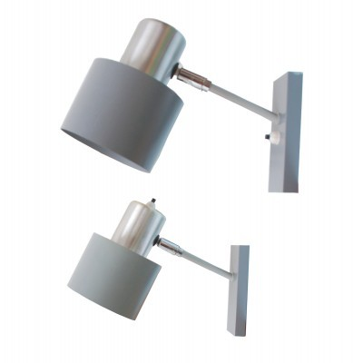 Set of 2 Alfa wall lamps from the sixties by Jo Hammerborg for Fog & Mørup