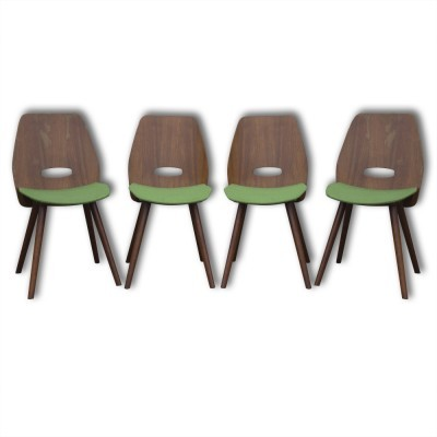 Set of 4 dining chairs by František Jirák for Tatra Nabytok NP, 1960s