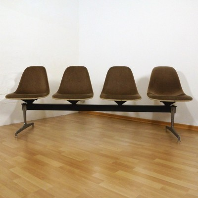 2 Tandem benches from the sixties by Charles & Ray Eames for Herman Miller