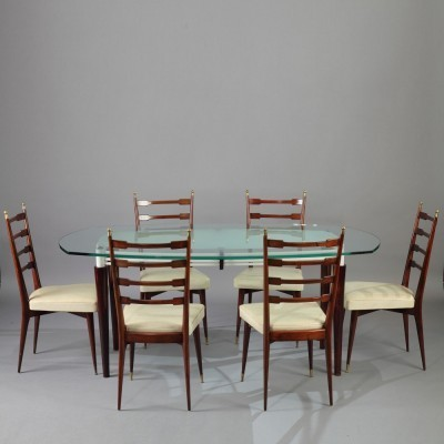 Set of 7 dinner sets from the sixties by unknown designer for unknown producer