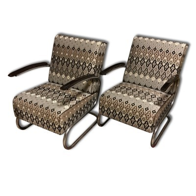 Set of 2 S-411 arm chairs from the thirties by unknown designer for unknown producer
