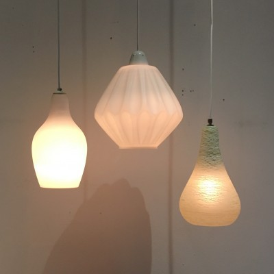 Set of 3 hanging lamps from the fifties by unknown designer for Philips
