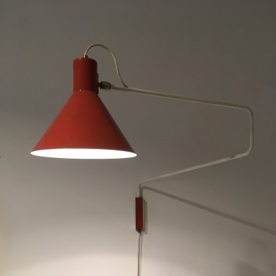Wall lamp from the fifties by J. Hoogervorst for Anvia Almelo