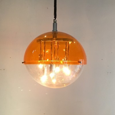 Hanging lamp from the seventies by unknown designer for Brevetti Italy