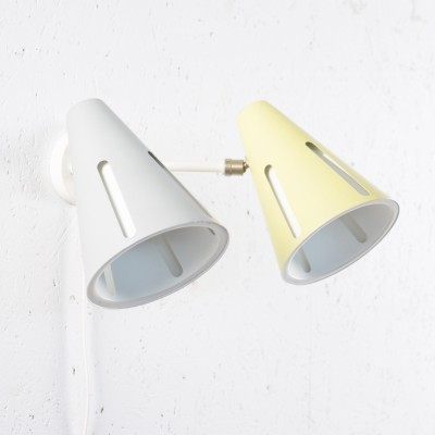 Double wall lamp from the fifties by H. Busquet for Hala Zeist
