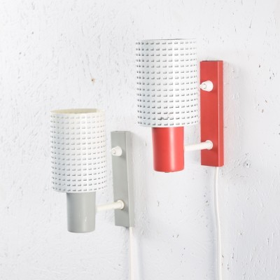 Set of 2 Fiësta wall lamps from the sixties by H. Busquet for Hala Zeist
