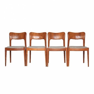 4 dinner chairs from the seventies by Niels Kofoed for Kofoed Møbelfabrik