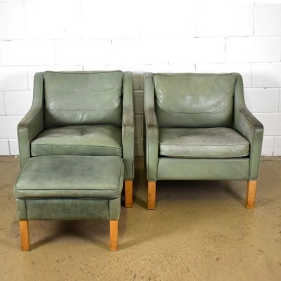 Set of 2 model 2321 lounge chairs from the seventies by Børge Mogensen for Fredericia