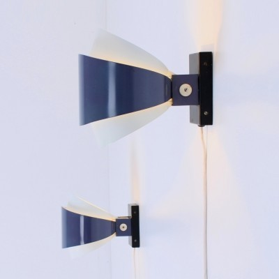 Pair of Nx 46 wall lamps by Louis Kalff for Philips, 1950s