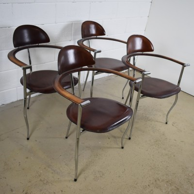 Set of 4 Marilyn dinner chairs from the seventies by unknown designer for Arrben Italy