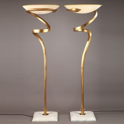 2 Alfea floor lamps from the seventies by Enzo Ciampalini for Lamp International