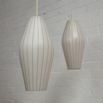 3 hanging lamps from the fifties by unknown designer for Philips