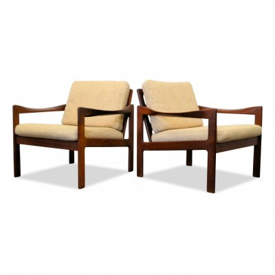 Set of 2 lounge chairs from the sixties by Illum Wikkelsø for Eilersen