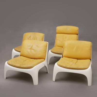 Set of 4 lounge chairs from the seventies by unknown designer for unknown producer