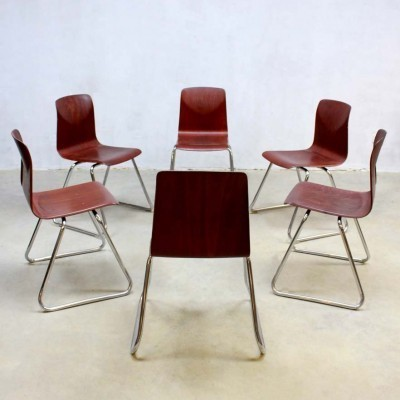11 dinner chairs from the sixties by unknown designer for Galvanitas
